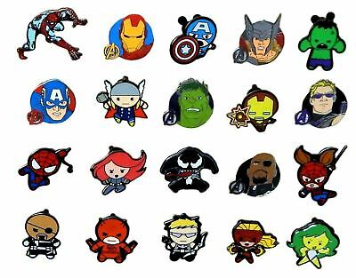 Marvel Avengers Themed 10 Disney Park Trading Pins Starter Set ~ Brand NEW