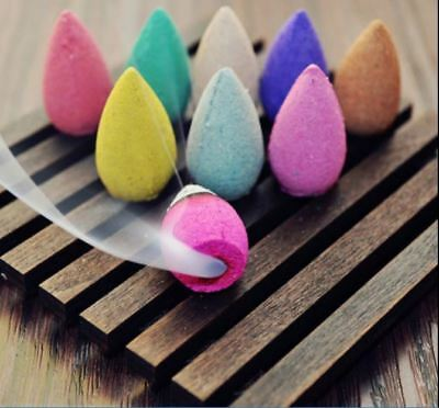 Backflow incense cones - 10 different scents  - in packs of 20, 40, 60, 80, 100