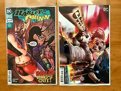 Harley Quinn 59 2019 Guillem March Main Cover + Derrick Chew B Variant Set DC NM