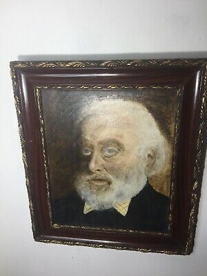 Vintage Portrait Oil Painting of Tom Keating by John Hall (1921-2006) Gesso Fame