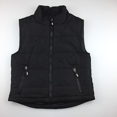 Boys size 3, Industrie, black zip up puffer vest / jacket, EUC