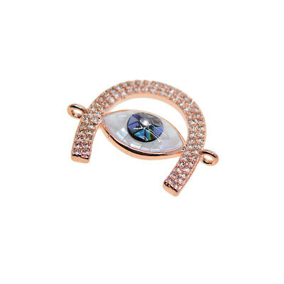 Rhinestone Evil Eye Crafts Connector Jewelry Making Findings Necklace DIY