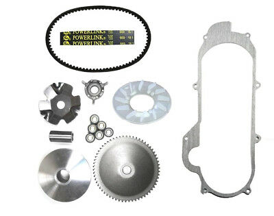 Front Clutch Variator, Belt & Gasket GY6 50cc 49cc QMB139 Short Case Scooters