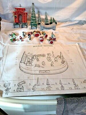 Mr Christmas Holiday Skaters Complete 19 Piece Replacement Parts Set FS
