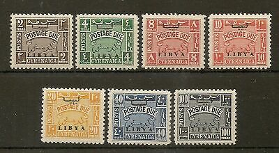 Cirenaica 1951 Postage Dues Lhm Only 2,692 Sets Produced