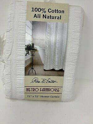 NWTPark B Smith Metro Farmhouse 100 Cotton 72 X72 Shower Curtain All