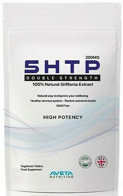 5HTP Premium HIGH POTENCY 200mg 60 Tablets Helps Depression,Stress, Anxiety