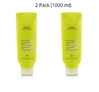 New AVEDA BE CURLY INTENSIVE DETANGLING MASQUE 500ML x 2 (TWIN PACK) 1 LITRE
