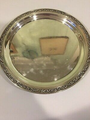 Gorham Large Round Sterling Silver Tray 12 1/2 Inches ❤️