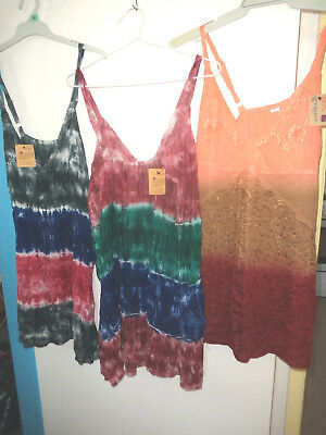 Tops Tie Dye Bulk Lot 10 New Summer Stock 12 14 16