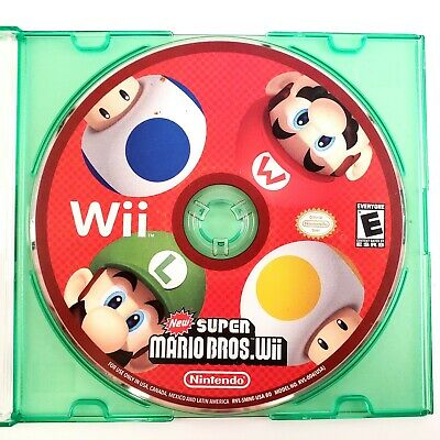 New Super Mario Bros. Wii (Nintendo Wii, 2009) Disc Only Tested & Works