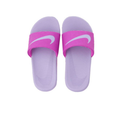 5035ae932451a Nike Kawa Slide Kid s Pink Purple GS PS 819353 601 Size 4Y