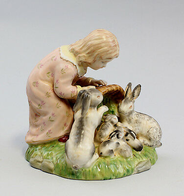 NEW Porcelain Girl with rabbit easter 9937304