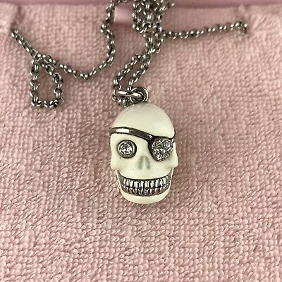 JUICY COUTURE LIMITED Edition 2010 Pave Skull Necklace YJRU378 ...