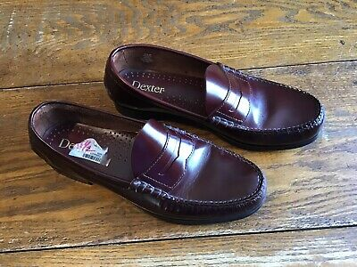 95e56af58 DEXTER Vintage Burgundy Handsewn Penny Loafers 11 1 2 D Leather Sole P-640