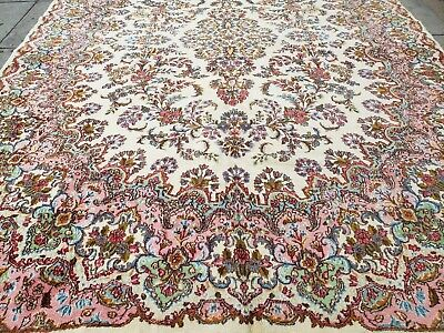 Antiques Vintage Persian Malayer Rug Wool 3'-4x4'-9 Hand Knotted Very Fine Excellent