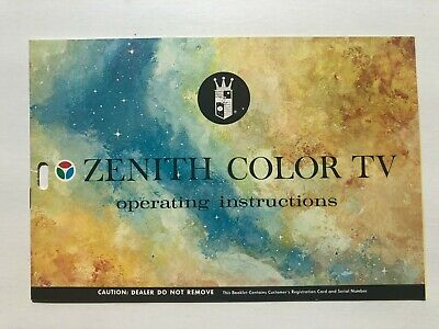 Vintage 1970's Zenith Color TV Operating Guide