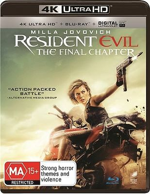 The Resident Evil - Final Chapter 4K Ultra HD(Blu-ray, 2017, 2-Disc Set)