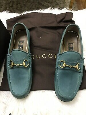 238c578d8 1953 Edition Gucci Mens Shoes Horsebit Suede Loafers Us Size 5.5 Made In  Italy
