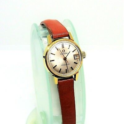 Vintage Original 1960's Omega Ladymatic Gold Plated 20 Microns Ladies 17J Watch