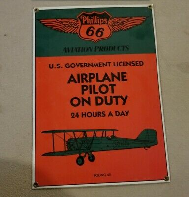 phillips 66 porcelain sign airplane