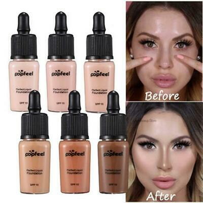 Long Lasting Women Full Coverage Liquid Foundation Makeup Beauty Concealer Cover