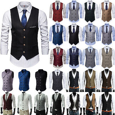 a95e23b38 Stylish Men Formal Business Dress Vest Suit Slim Tuxedo Blazer Waistcoat  Coat US