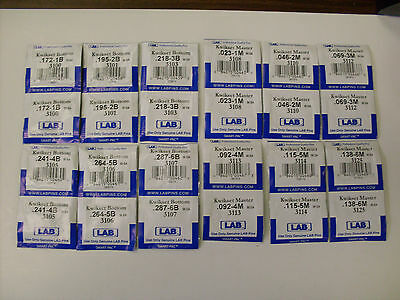 Kwikset Oem Broches par Lab -12 Paquets Inclus #1-6 Bas & #1-6 Master Broches