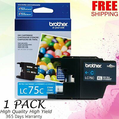 GENUINE BROTHER LC75C XL Cyan Ink Cartridge - $7 99 | PicClick