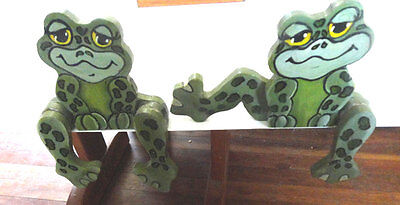 Hand Painted Frog Shelf Sitters