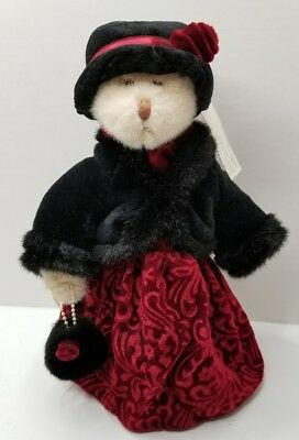 MARISKA The Beautiful Turn of the Century Russ Bear with Tags and Stand