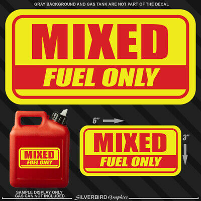1x Mixed Fuel Only sticker gasoline gas decal truck vinyl tank can diesel label
