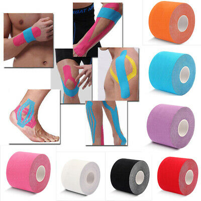 5M*2.5CM One Roll Elastic Kinesiology Sports Tape Muscle Pain Care Therapeutic