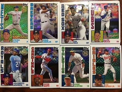 2019 Topps Series 1 Silver Pack 1984 Chrome Singles U-PICK Complete Your Set