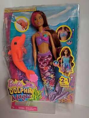 Dolphin Magic Transforming Mermaid Barbie Doll New in Box