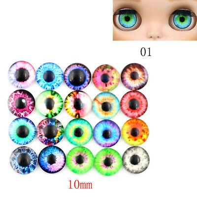 20Pcs Doll Eyes Gem Glass DIY Eyeballs 10/16/20mm set 3 size Crafts Card Making