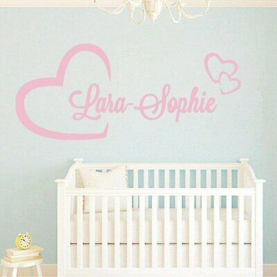 Personlized Name Wall Stickers For Kids Room Custom Girl Boys Name Baby Room wal