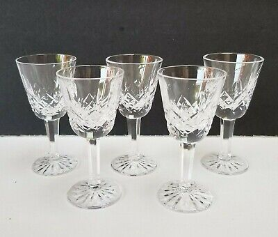 """Lot Of 5 Waterford Crystal LISMORE 3.5"""" Liqueur Cocktail / CORDIAL"""