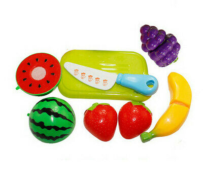 Fruit Cutting Set New Fruit Vegetable Food Kitchen Pretend Role Play Reusable