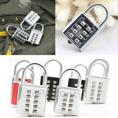 1Pcs Travel Code Lock Luggage Number Padlock 8 Digit Push Button Combination Pop