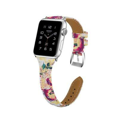 Elegant And Generous Printing Design 1 Pcs Leather Wrist Band For Apple Watch