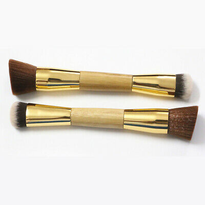Makeup Contour Brush Eco-friendly Buffing Bamboo Handle Foundation Double-Sided