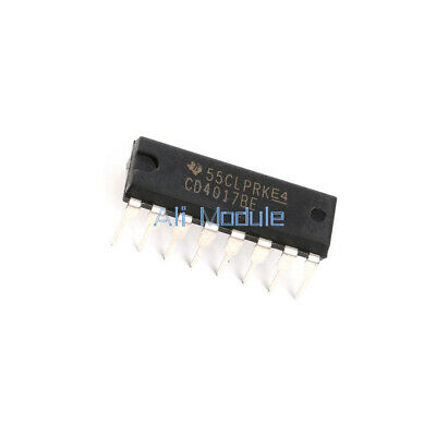 20Pcs Cd4017Be 4017 Cd4017 Decade Counter Divider Ic Top