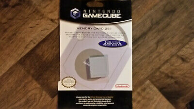 **Genuine Nintendo Memory Cards For Gamecube Official Grey Wii Compatible** 1019