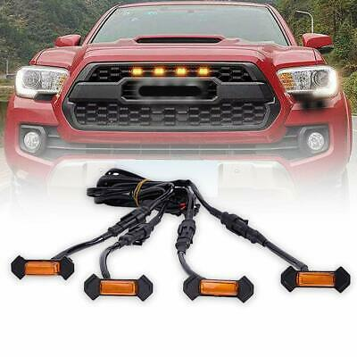 For Toyota Tacoma TRD PRO 2016-2019 LED Amber Grille Grill Light (Pack of 4)