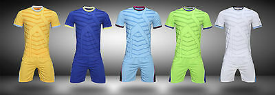 35458de54 NEW Plain Creative Blank Running Soccer Jersey Kit Football Sport Uniform  Suit