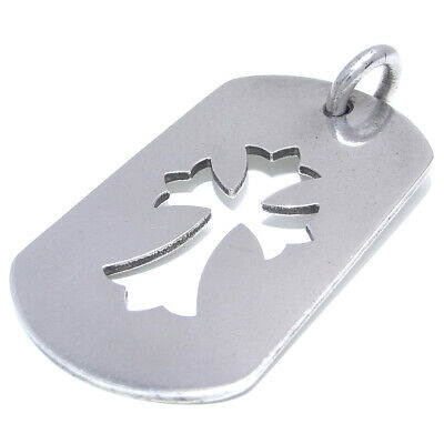 002d041934eb Auth Chrome Hearts Tiny Cut Out Cross Dog Tag Pendant Silver 925 SV925  (DH50852)