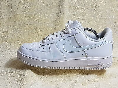 buy online 89cbe d8ae0 Nike Air Force 1 mens trainers Leather White UK 8 EU 42.5