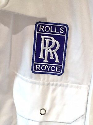 """Rare Fine Goodwood Revival Classic Vintage Rolls Royce Badged Overalls 48"""" Chest"""