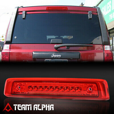 Fits 2006 2010 Jeep Commander Chrome Red Led Third 3rd Brake Light